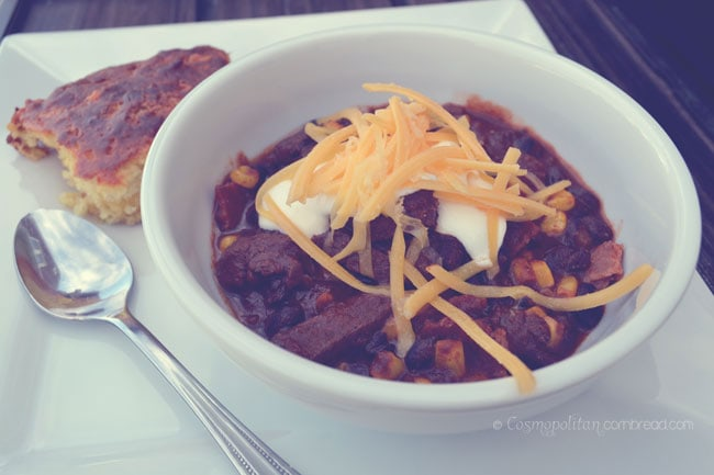 How to make Moose Chili from Cosmopolitan Cornbread