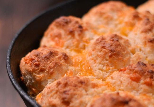 Skillet Cheddar Biscuits
