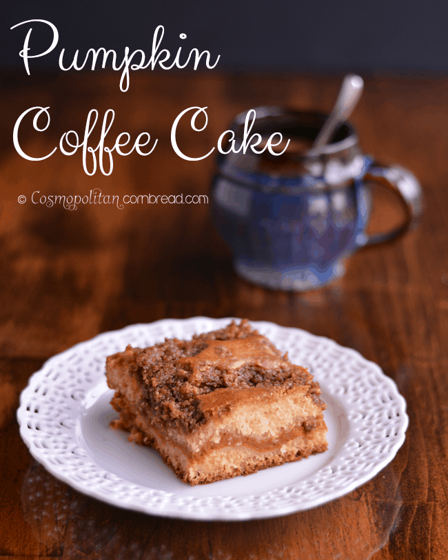 Pumpkin Coffee Cake from Cosmopolitan Cornbread