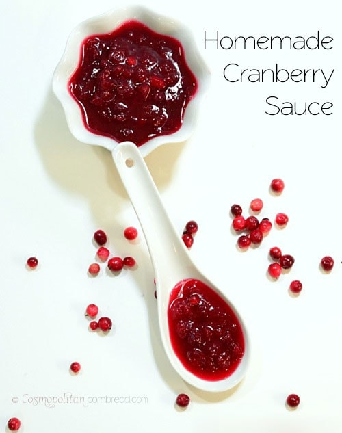 How to make Homemade Cranberry Sauce from Cosmopolitan Cornbread