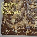 Cashew Swirl Brownies