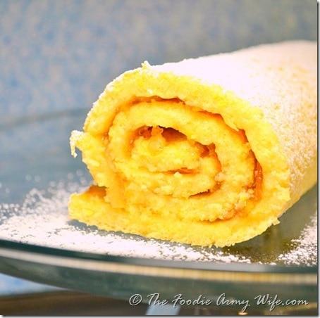 Orange Jelly Roll Cake
