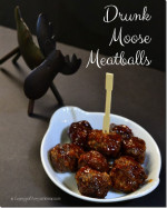 Drunk Moose Meatballs | #SundaySupper