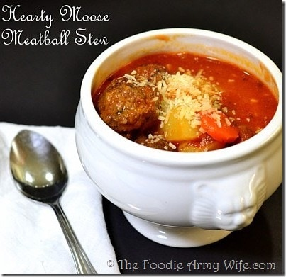 Hearty Moose Meatball Stew | #SundaySupper