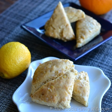 Lemon - Orange Cream Mini Scones