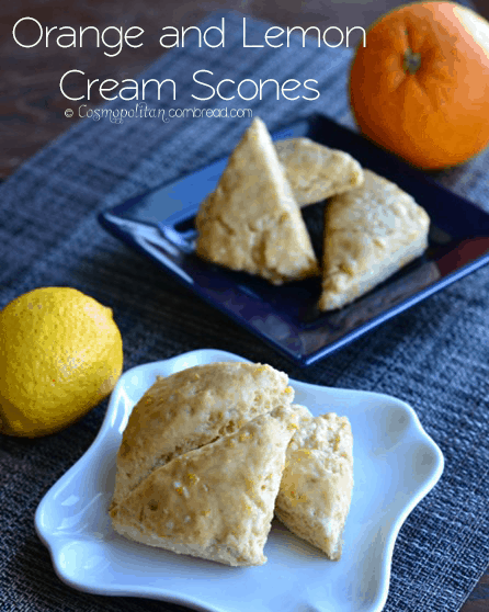 Lemon or Orange Cream Mini Scones | #SundaySupper