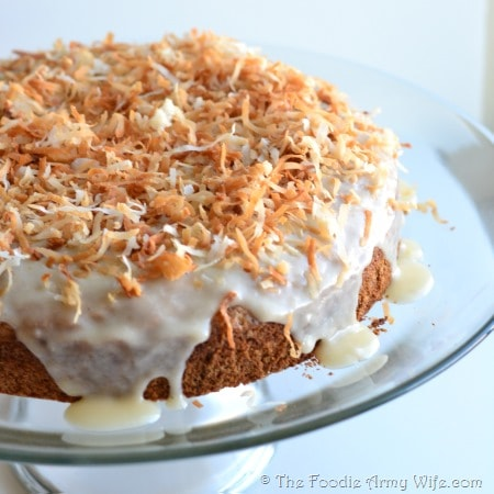 Coconut Rum Cake from The Foodie Army Wife