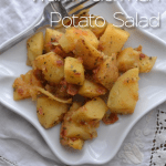 Warm German Potato Salad | #SundaySupper