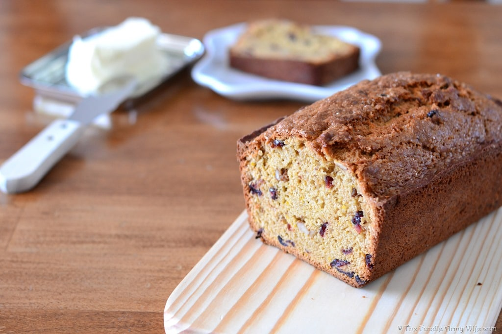 Orange Cranberry Bread from The Foodie Army Wife