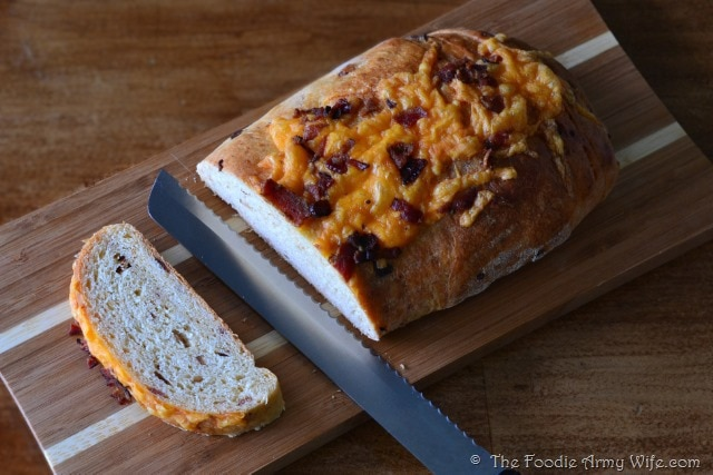 Bacon Cheddar Bread from The Foodie Army Wife