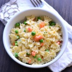 Farfalle with Peas & Carrots