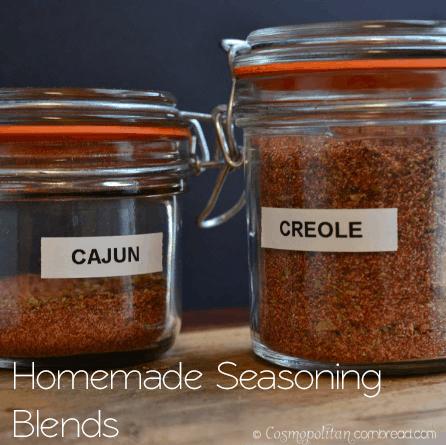 Homemade Cajun and Creole Seasonings from Cosmopolitan Cornbread