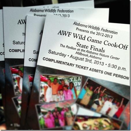 Alabama Wildlife Federation Wild Game Cook-off