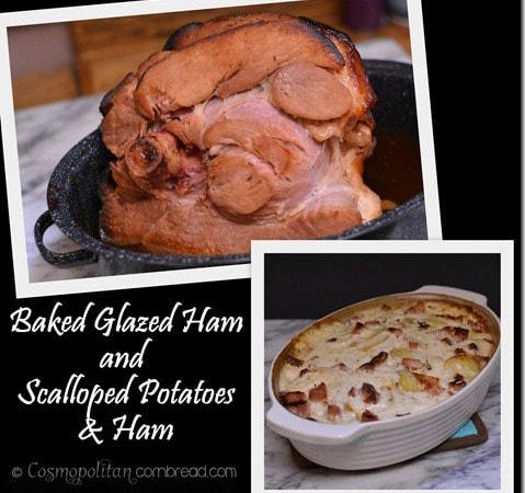 Baked Glazed Ham AND Scalloped Potatoes & Ham | #SundaySupper