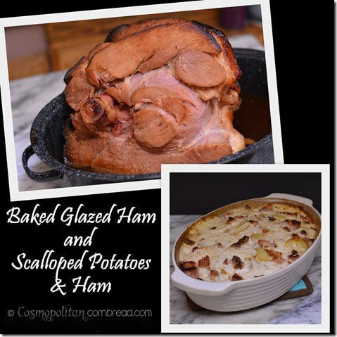 Baked Glazed Ham AND Scalloped Potatoes & Ham | #SundaySupper