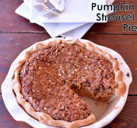 Deep Dish Pumpkin Streusel Pie