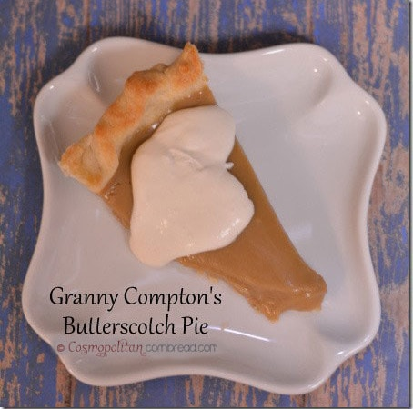 Granny Compton's Butterscotch Pie