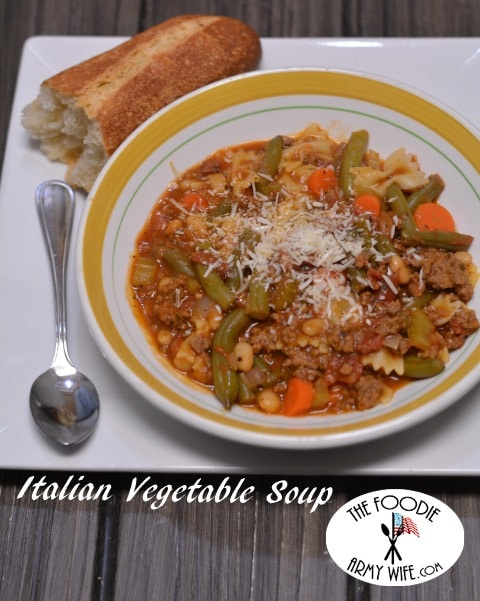 Italian Vegetable Soup from The Foodie Army Wife