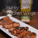 Honey Dijon Glazed Wings for Game Day | #SundaySupper