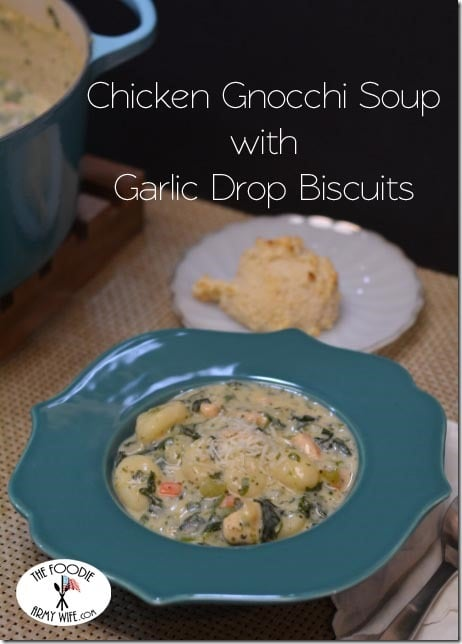 """Olive Garden"" Chicken Gnocchi Soup and Garlic Drop Biscuits"