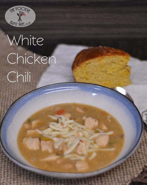 White Chicken Chili for a #SundaySupper Chili Cook Off!