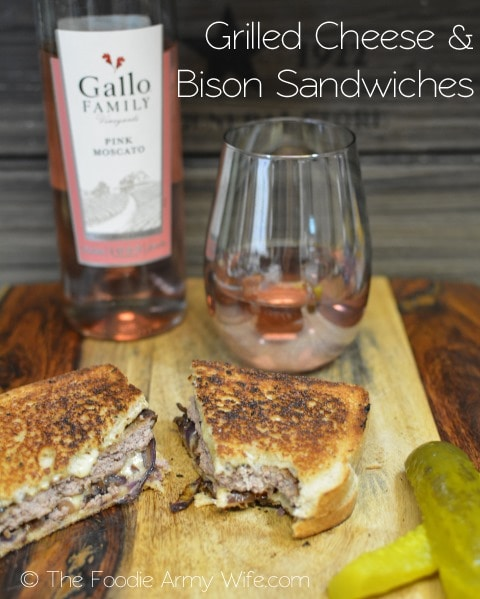 Grilled Cheese & Bison Sandwiches | #SundaySupper