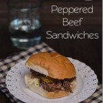 Peppered Beef Sandwiches from The Foodie Army Wife