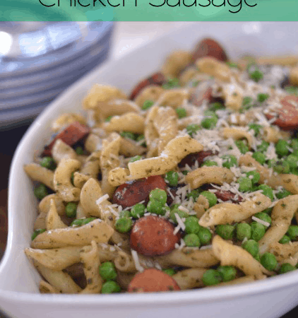 Pesto Pasta with Chicken Sausage