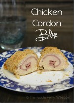 Chicken Cordon Blue from The Foodie Army Wife