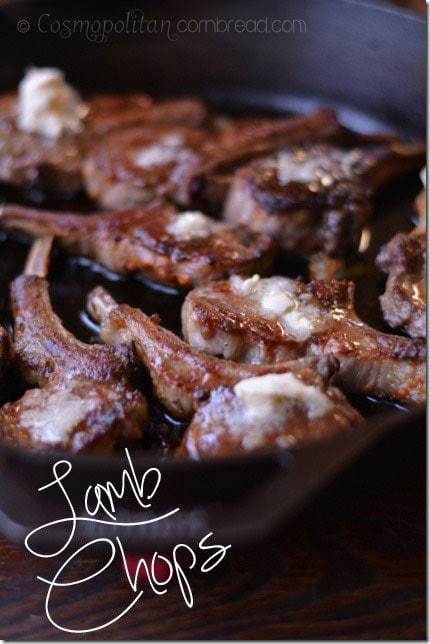 Pan Seared Lamb Chops from Cosmopolitan Cornbread