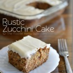 Rustic Zucchini Cake from The Foodie Army Wife