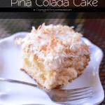 Piña Colada Cake | #SundaySupper