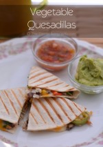 Vegetable Quesadilla from The Foodie Army Wife #WeekdaySupper #ChooseDreams