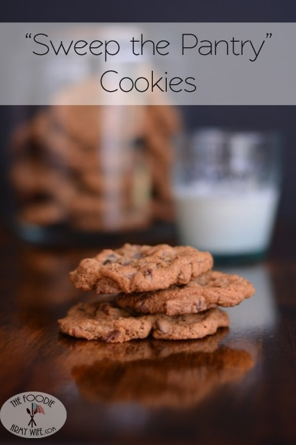 Sweep the Pantry Cookies from The Foodie Army Wife