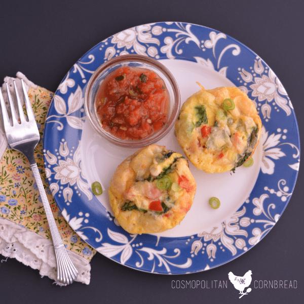 Veggie Omelette Cups from Cosmopolitan Cornbread