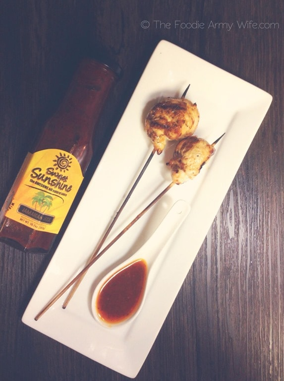 Chicken Lollipops with Jerked Dipping Sauce from The Foodie Army Wife