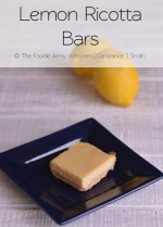 Lemon Ricotta Bars from The Foodie Army Wife | TheFoodieArmyWife.com