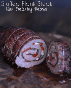 Stuffed Flank Steak with Butterfly Tutorial from Cosmopolitan Cornbread