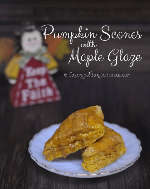 Pumpkin Scones with Maple Glaze | #SundaySupper