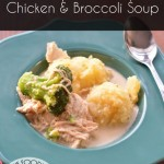 Crockpot Creamy Chicken & Broccoli Soup | #WeekdaySupper