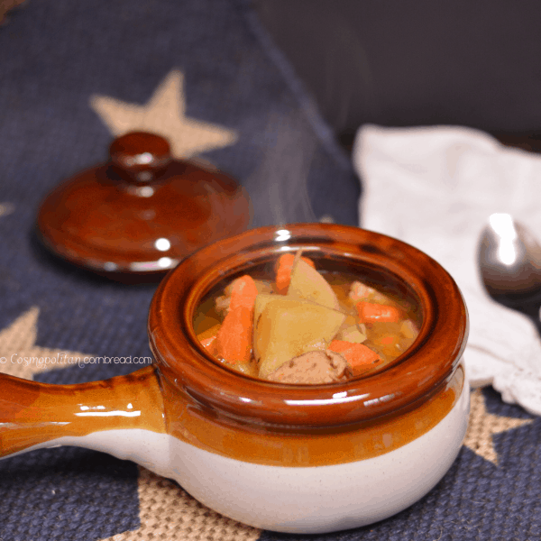Kielbasa Split Pea Soup from Cosmopolitan Cornbread