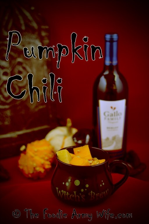 Spooktacular Pumpkin Chili from The Foodie Army Wife