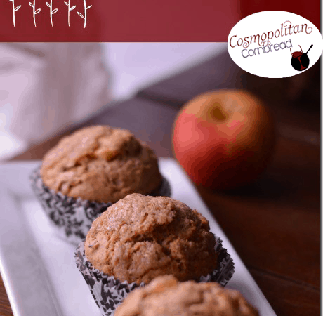 Whole Wheat Apple Walnut Muffins