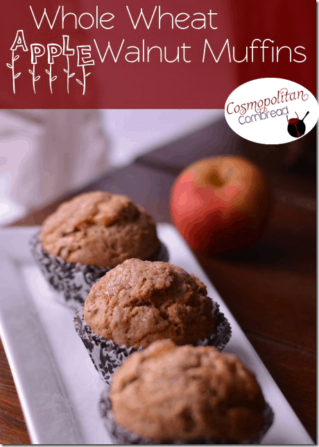 Whole Wheat Apple Walnut Muffins from Cosmopolitan Cornbread