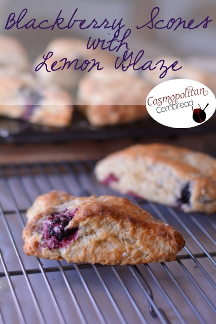 Wild Blackberry Scones with Lemon Glaze |#SundaySupper