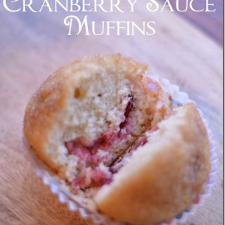 Cranberry Sauce Muffins | Thanksgiving Leftovers #SundaySupper