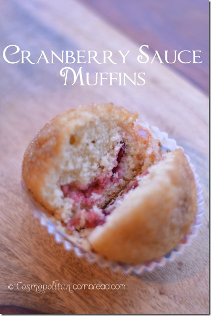 Cranberry Sauce Muffins from Cosmopolitan Cornbread