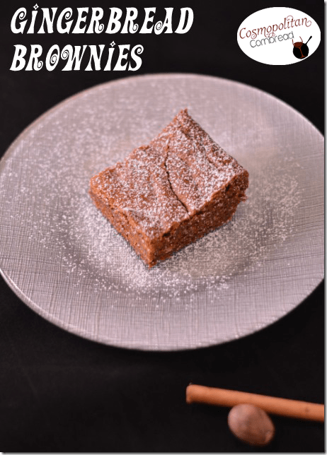 Gingerbread Brownies by Cosmopolitan Cornbread