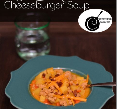 Lean Mean Cheeseburger Soup | A lightened-up version from Cosmopolitan Cornbread