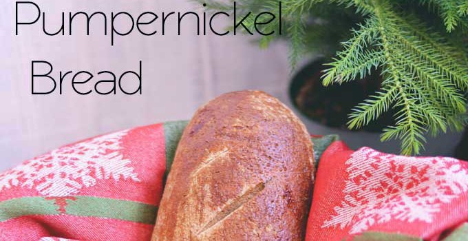 Homemade Pumpernickel Bread | #SundaySupper